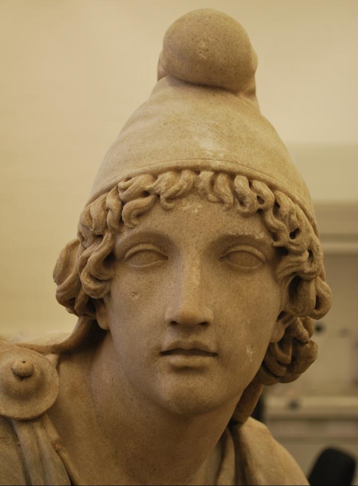 Detail of Mithras, Standish tauroctony, British Museum