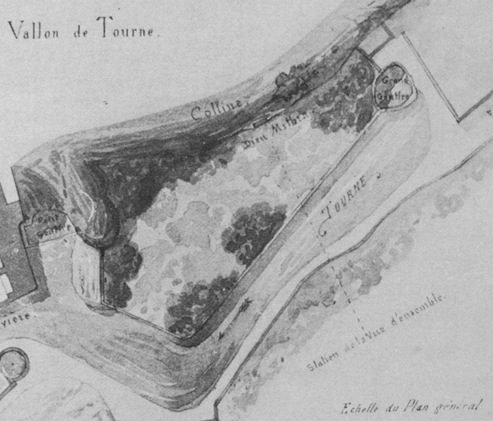 Plan of the mithraeum at Bourg St Andéol by F. Revoil from 1854