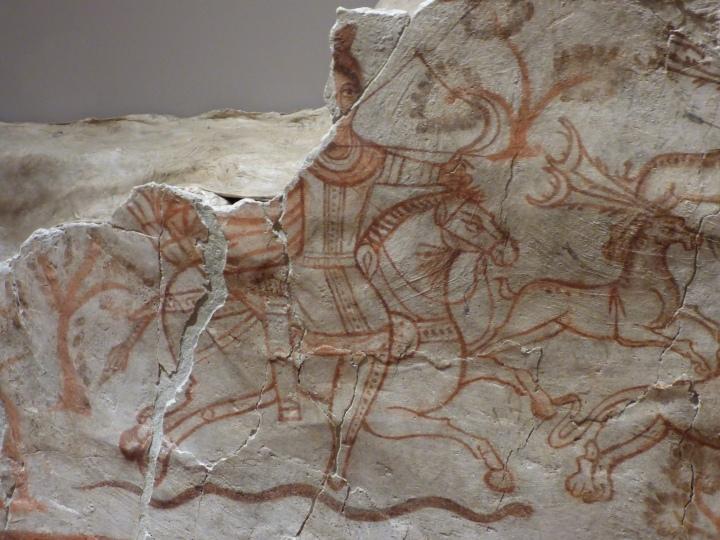 Hunting fresco, Dura Europos