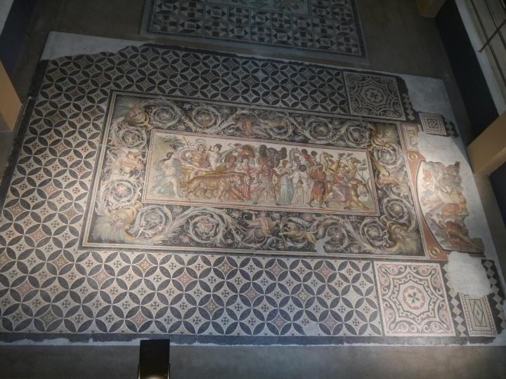 Dionysiac mosaic, 3rd century AD, Musée National d'Arquéologie, Sétif