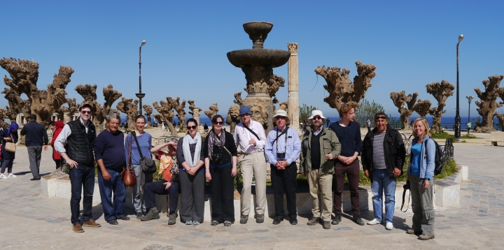 The James Howard Johns[t]on group with Kader and Hassisen in Cherchell