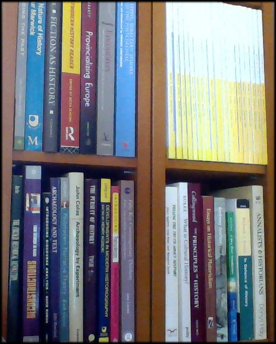 Postmodernism on my bookshelves, mostly untouched for the last decade